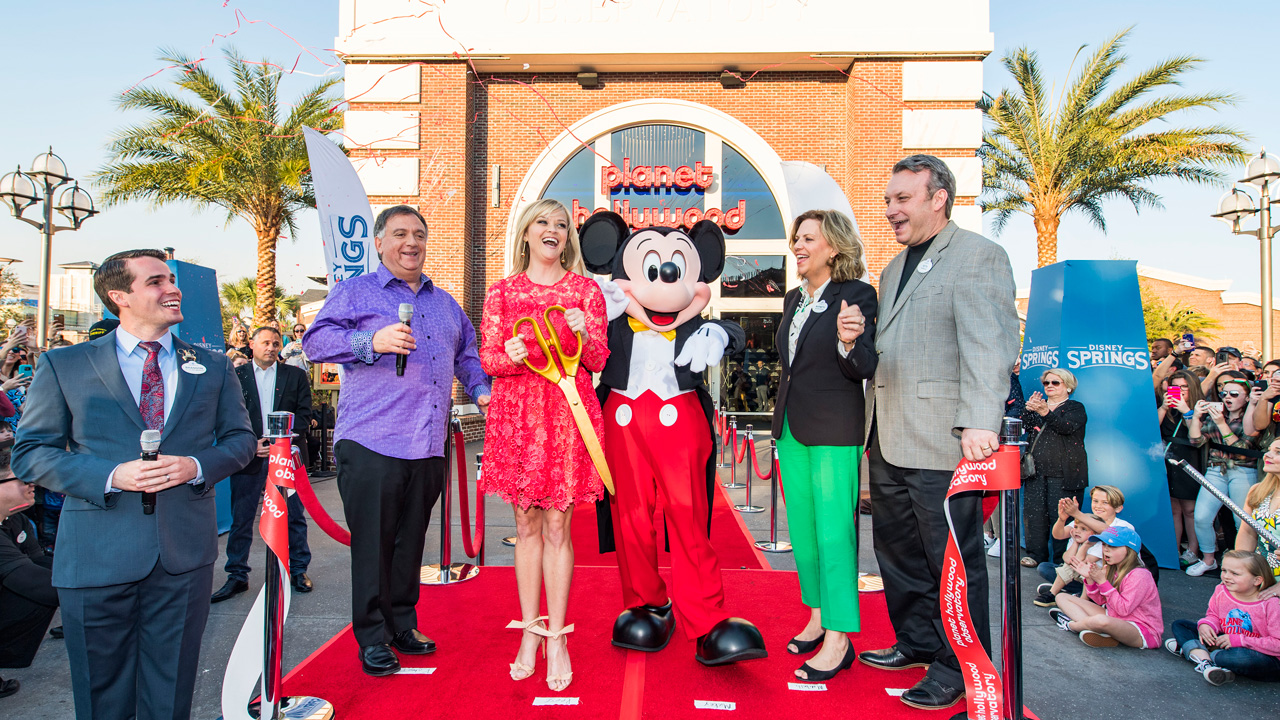 Actress and Producer Reese Witherspoon opens Planet Hollywood Observatory at Disney Springs
