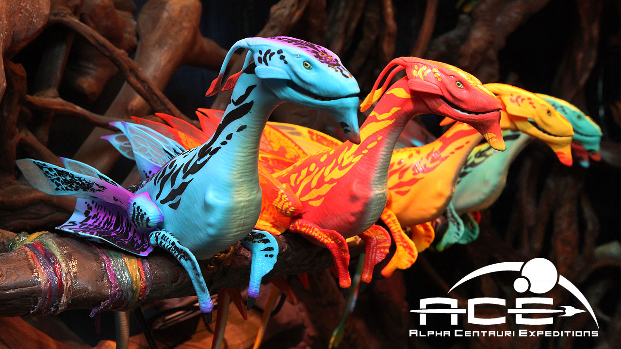 This week some of the most compelling images we shared on the Disney Parks Blog were of these colorful banshees that guests will find when Pandora - The World of Avatar opens on May 27.