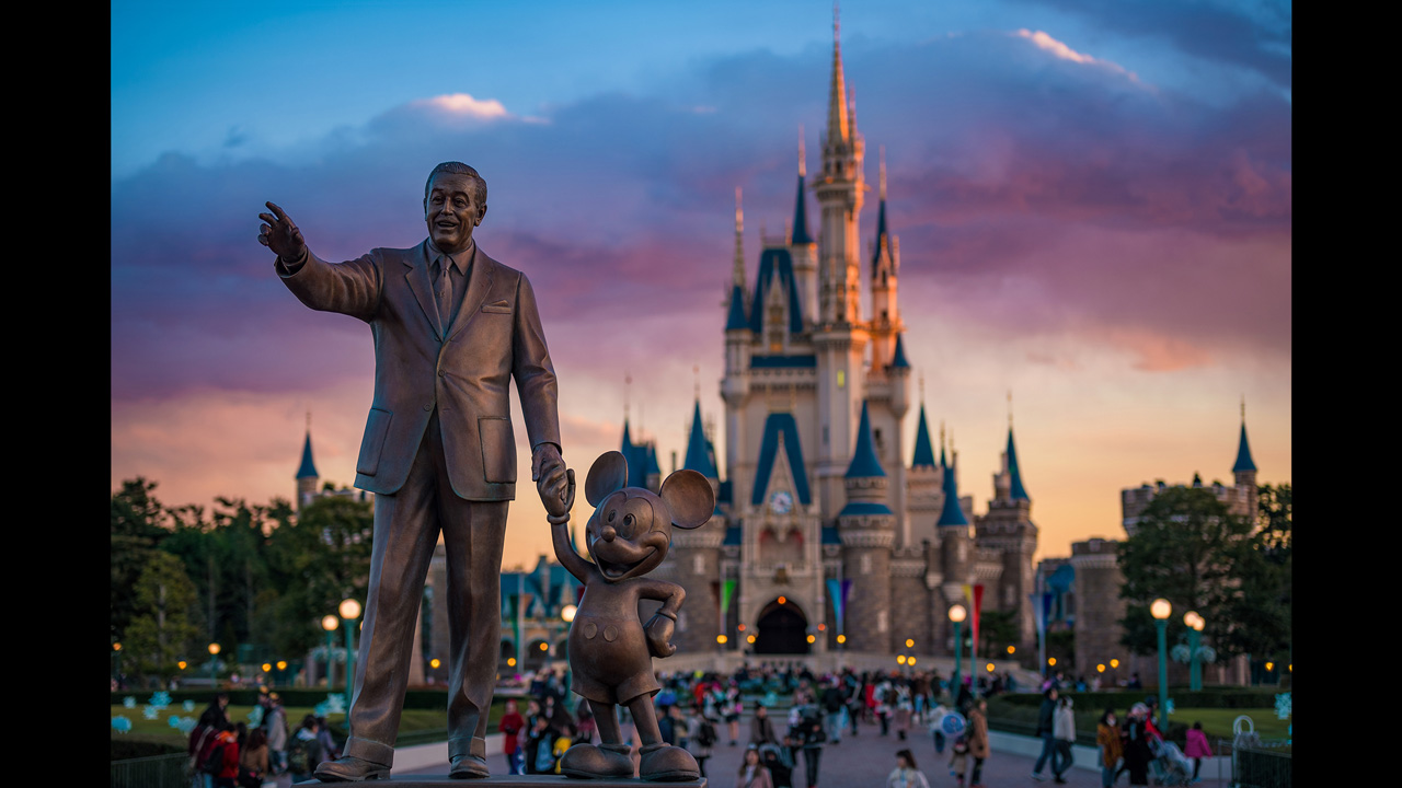 The Partners Statue at Tokyo Disneyland
