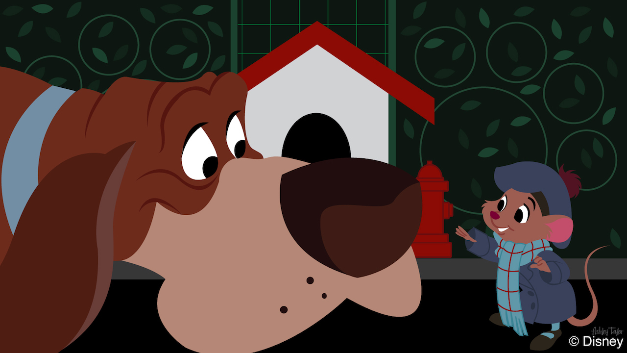 Disney Doodle: Pals from 'The Great Mouse Detective' Sniff Out Fun