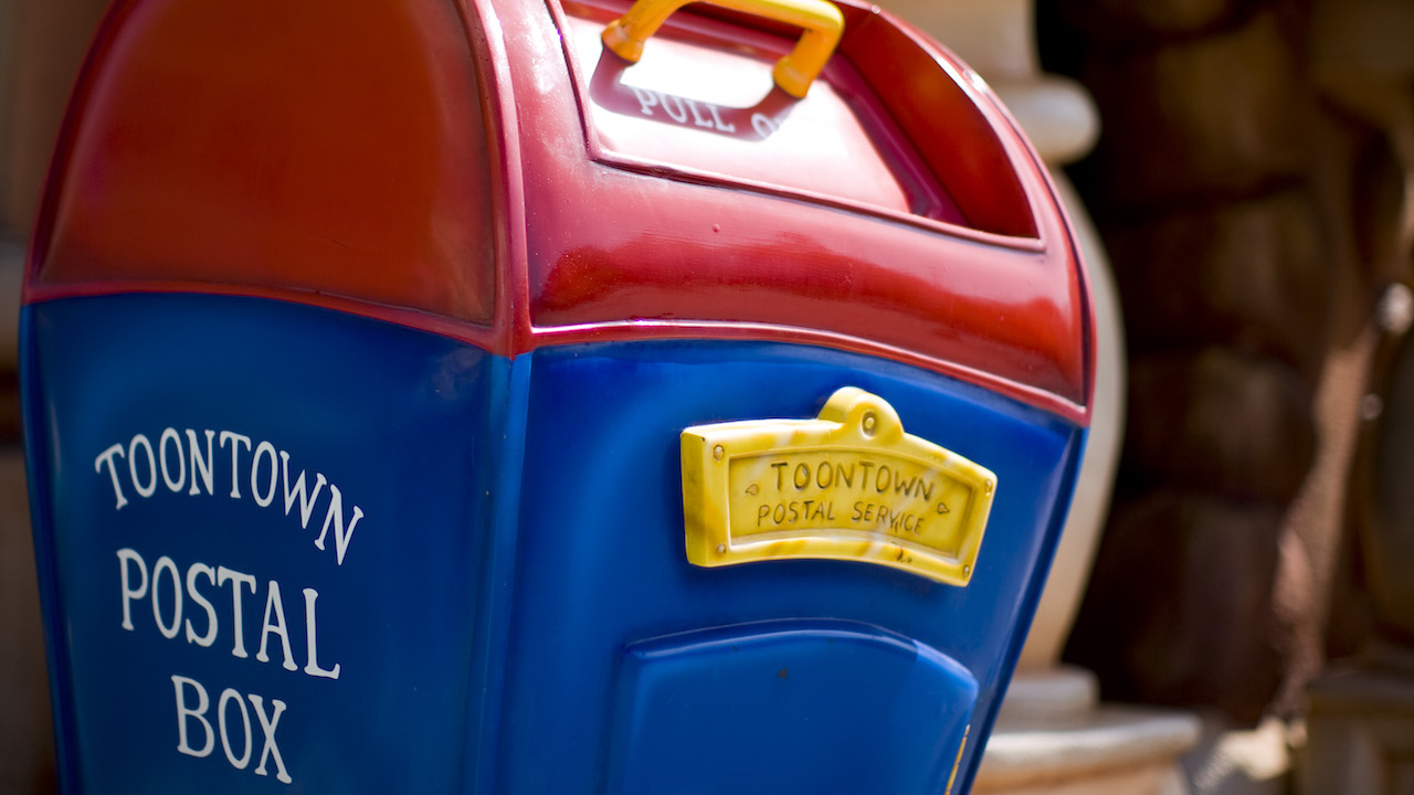 Mailboxes of Mickey's Toontown at Disneyland Park