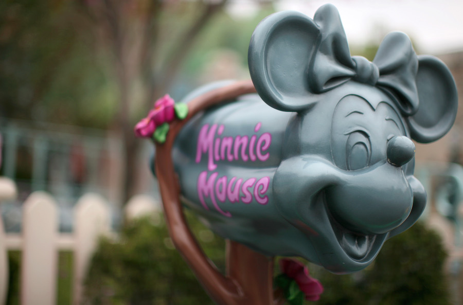 Minnie Mouse's Mailbox in Toontown at Disneyland Park