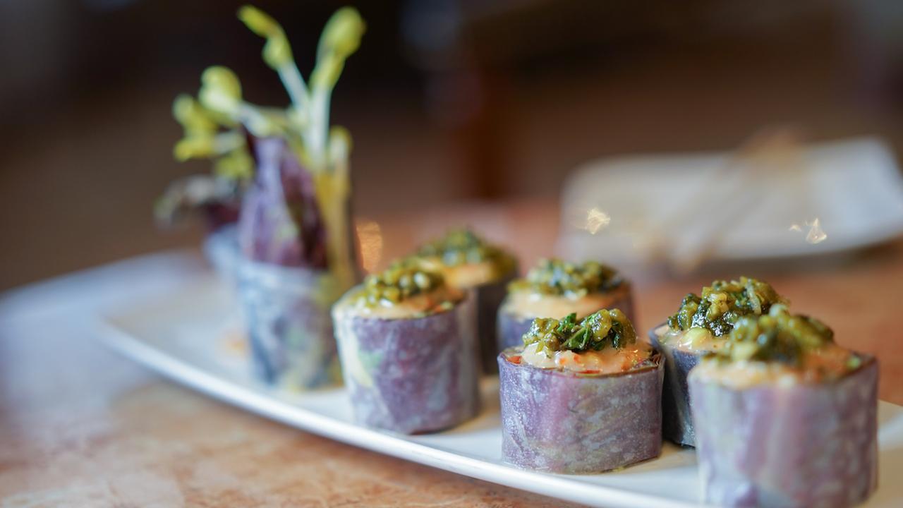 Vegan Sushi Roll from Carthay Circle Lounge at Disney California Adventure Park