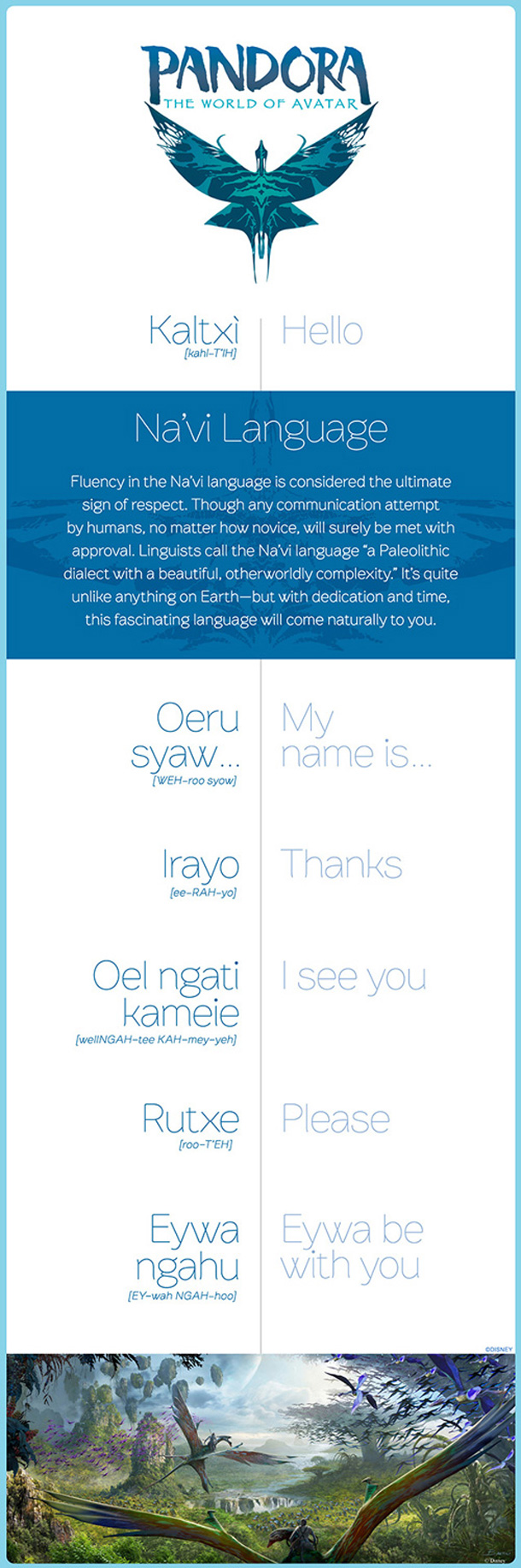 Infographic: Learn to Speak Na'vi For Your Trip To Pandora - The World of Avatar
