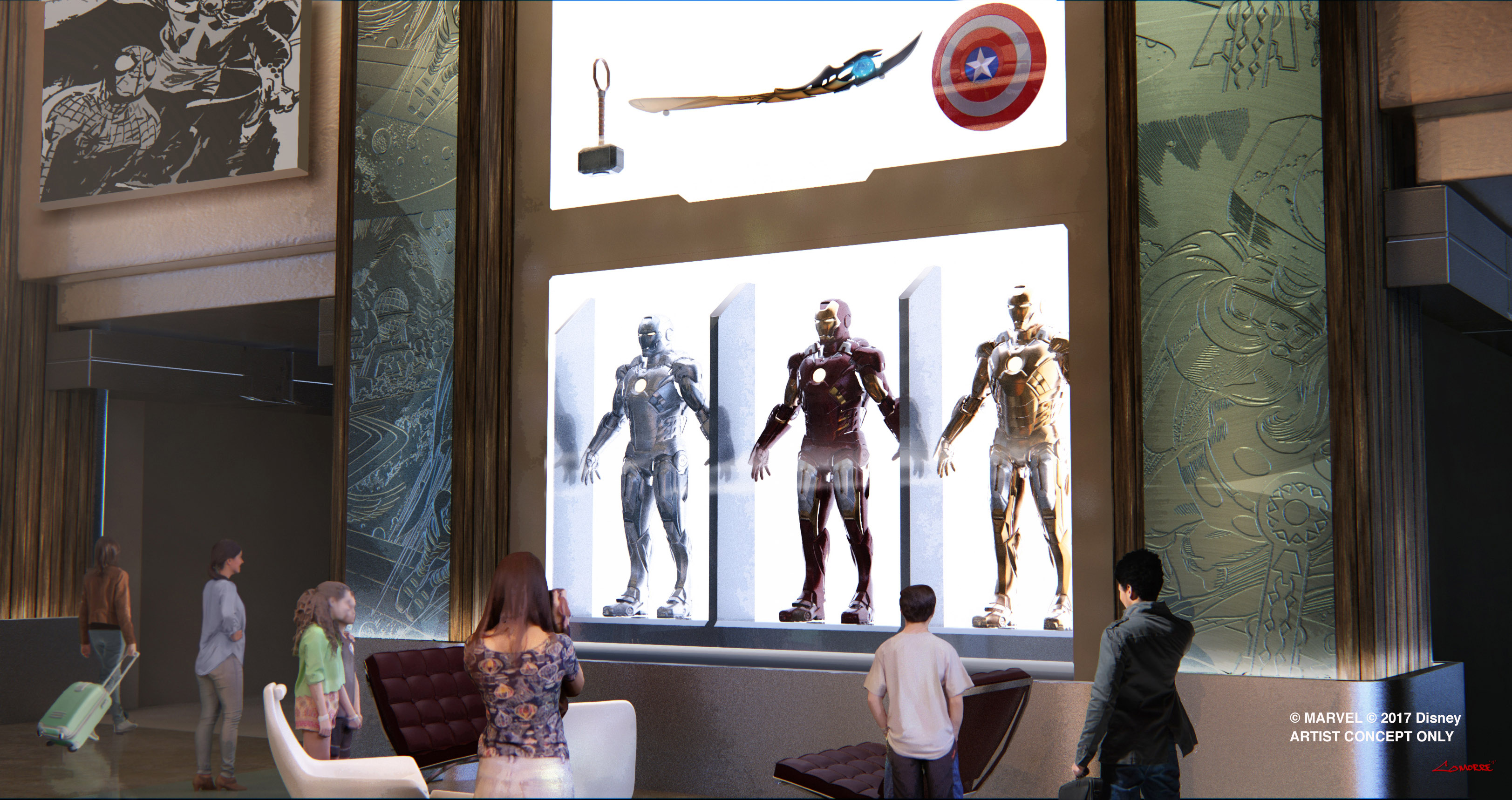 [Officiel] Disney's Hotel New York rethématisé - The Art of Marvel (fermeture en janvier 2019 jusqu'à 2020) - Page 3 Image_DLP_Hotel-New-York-Lobby
