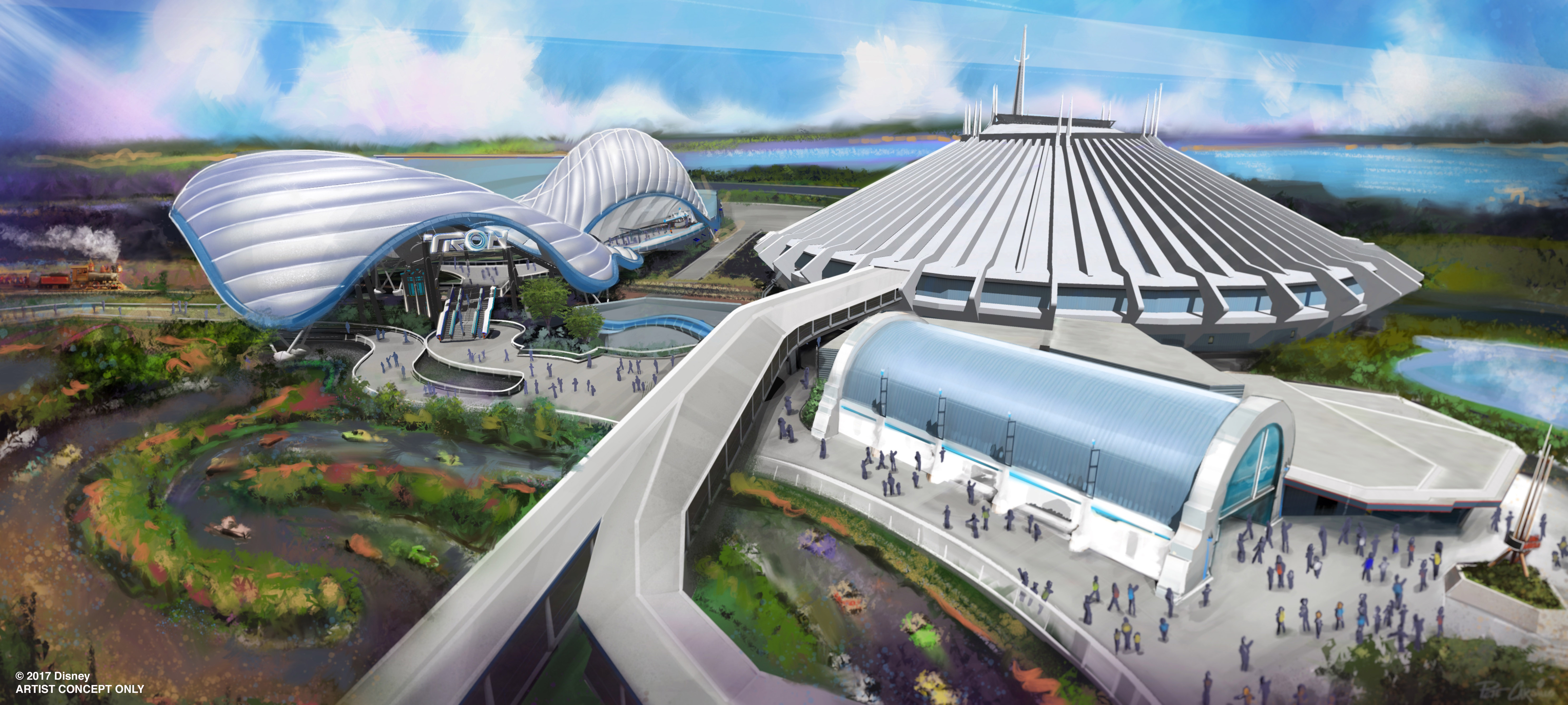 Will sit in an entirely new area right next to the space mountain attraction at magic kingdom park bob chapek chairman of walt disney parks resorts