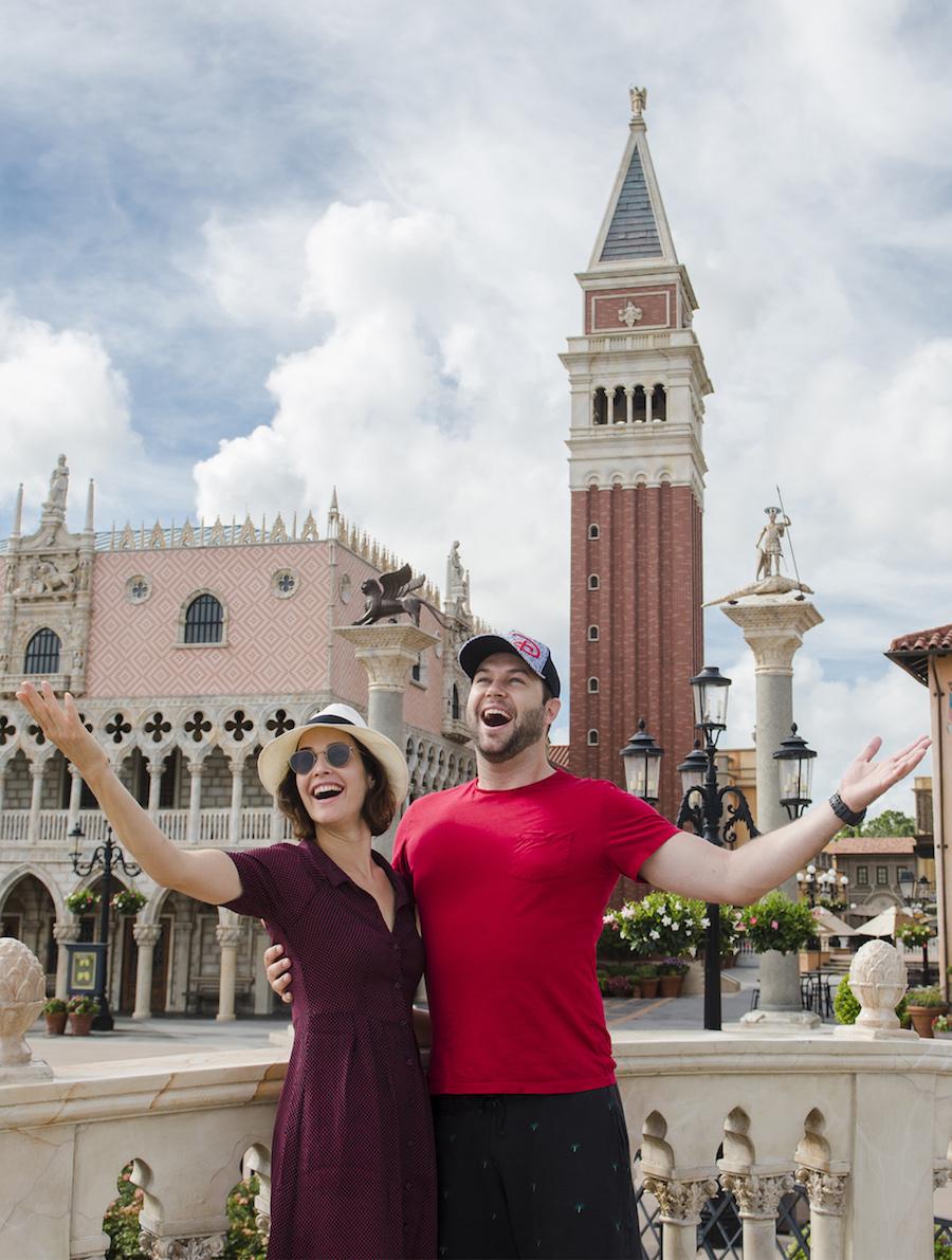 Actors Cobie Smulders and Taran Killam Visit Walt Disney World Resort!