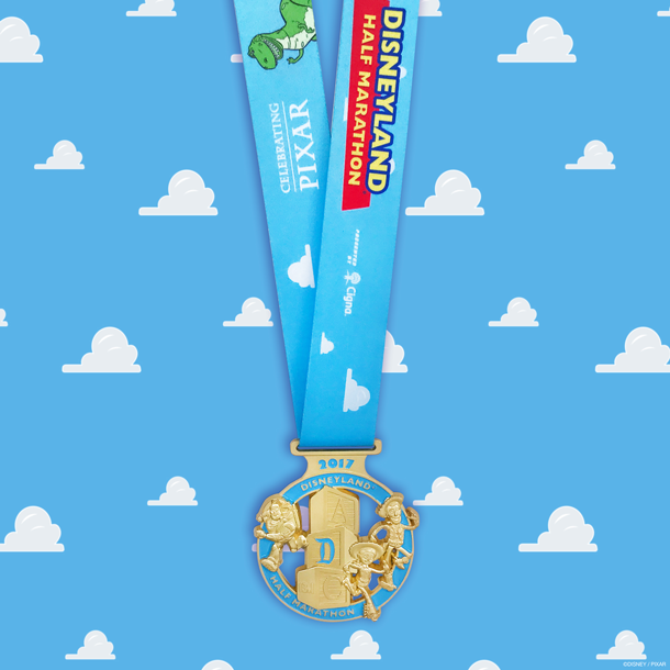 runDisney and Pixar Team Up on Disneyland Half Marathon Weekend Medals
