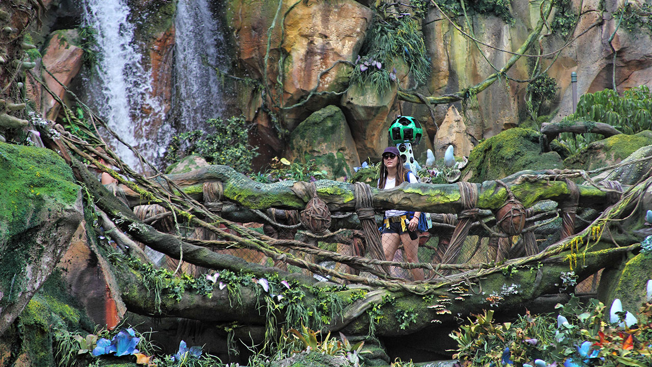 Disney parks launches first ever 360 degree panoramas on google to create the 360 degree imagery at disney parks google used street view trekker a wearable backpack with a camera system on top gumiabroncs Image collections