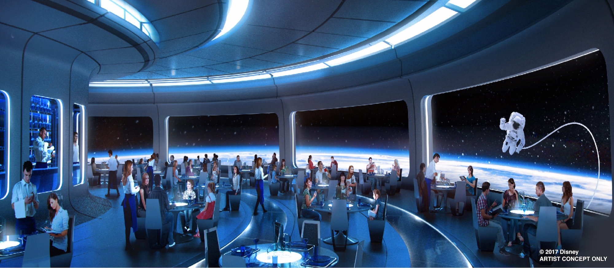 First Look New Space Restaurant To Offer OutofthisWorld Dining - Epcot table service