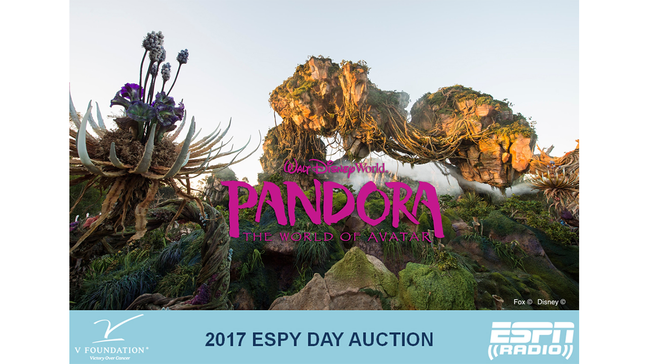 Bid on a Walt Disney World Resort Vacation to Visit Pandora - The World of Avatar at Disney's Animal Kingdom Park & Help Raise Money for the V Foundation during the ESPY Day Auction