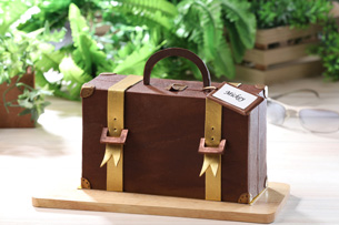 Suitcase-shaped Traveler (Coffee Chocolate Cake)