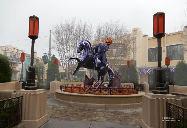 Headless Horseman Statue at Disney California Adventure Park