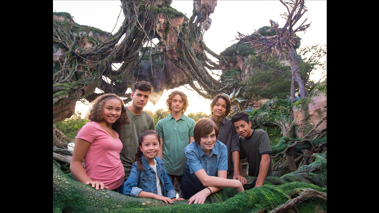 The AVATAR next generation cast visits Pandora - The World of Avatar during a visit to Disney's Animal Kingdom at Walt Disney World Resort