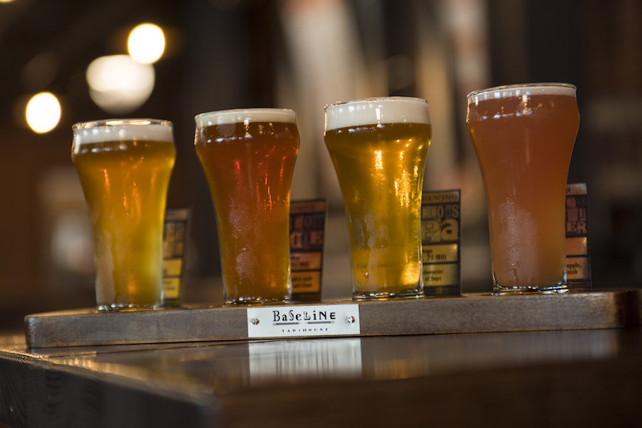Customizable Beer Flights at BaseLine Tap House