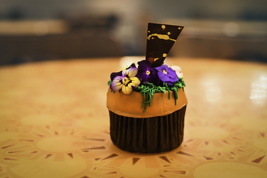 Flower Pot Cupcake from Sunshine Seasons, a Vanilla Cupcake with Peanut Butter at the International Food & Wine Festival at Walt Disney World Resort