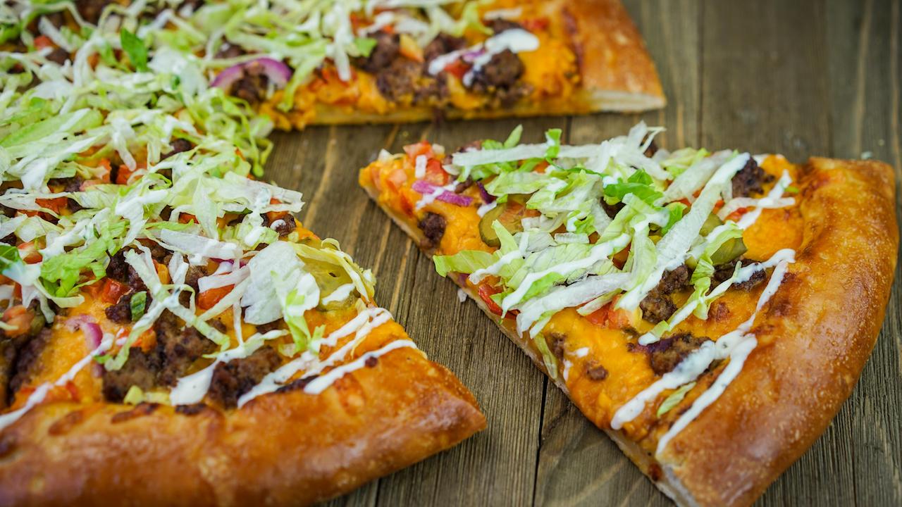 Boardwalk Pizza and Pasta Delicious Cheeseburger Pizza