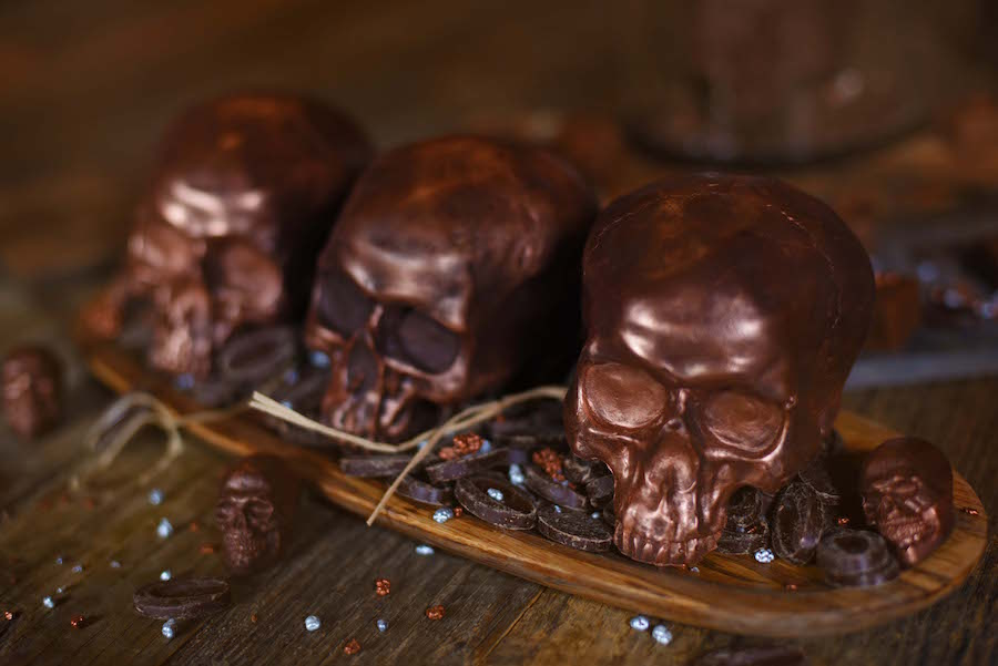 The Ganachery Skull Shaped Dark Chocolate for Halloween Season