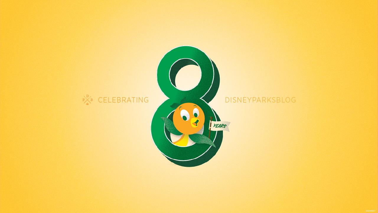 Download The Disney Parks Blog Anniversary Orange Bird Wallpaper