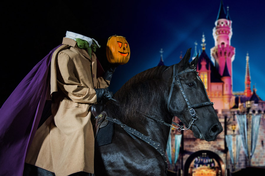 Headless horseman at a Disney park