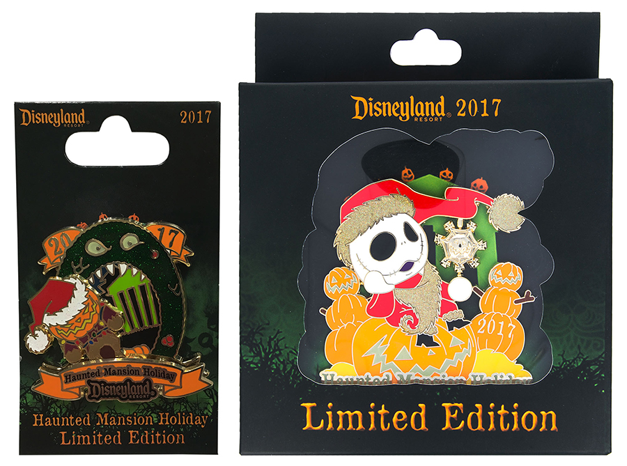 Haunt your holidays with new products from tim burtons the finally i have a preview of new haunted mansion holiday pins being released on november 2 at disneyland resort look for a limited edition logo pin spiritdancerdesigns Image collections