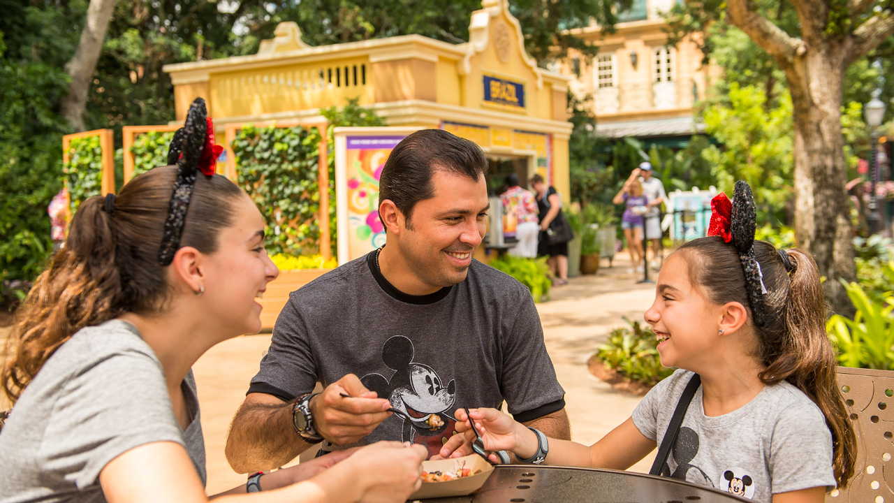 Family at Epcot International Food & Wine Festival