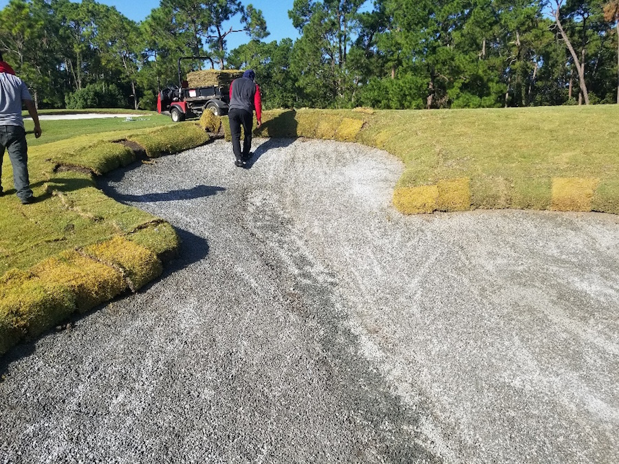 Mickey-shaped sand bunker