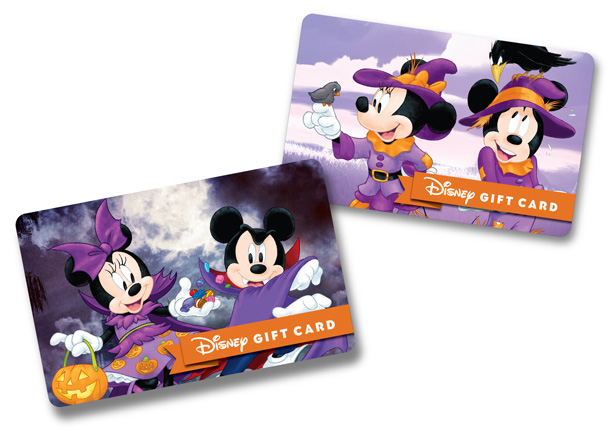 Mickey and Minnie Halloween Gift Card