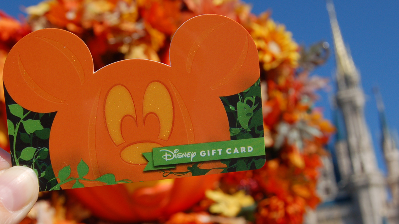 """Not-So-Scary"" Pumpkin Mickey gift card"