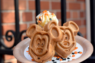 "Pumpkin Waffles at Sleep Hollow in Magic Kingdom Park""]"