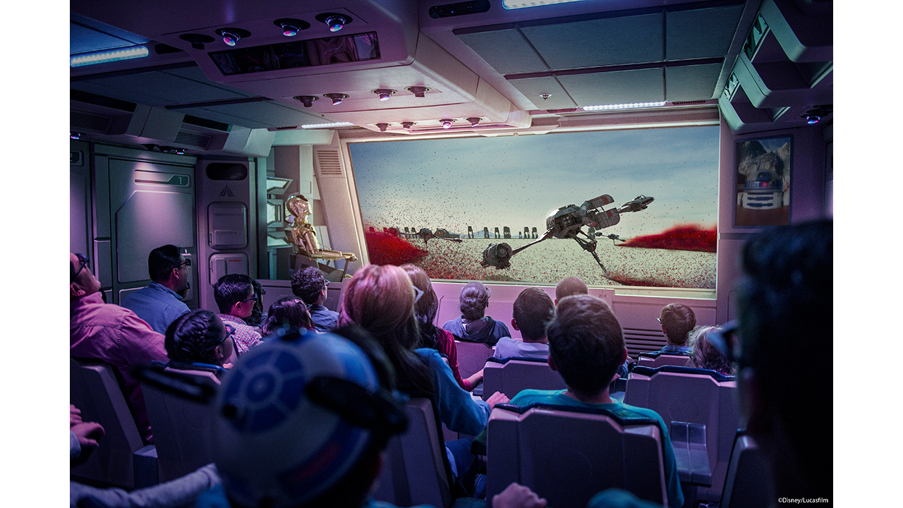 Exclusive First Look: Starspeeder Flight Through Crait on Star Tours - The Adventures Continue at Disney Parks