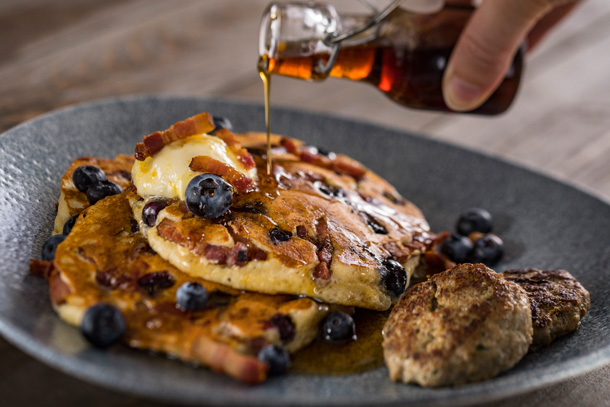 Blueberry Pancakes at Ale & Compass at Disney's Yacht Club Resort