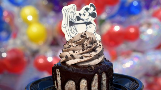 Steamboat Willie Cookies and Cream Cheesecake at Magic Kingdom Park