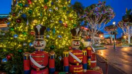 Christmas Tree and Holiday Decor at Downtown Disney District