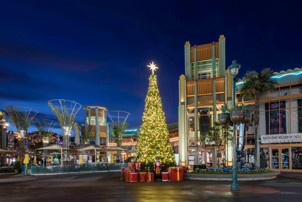 Holiday Decor at Downtown Disney District