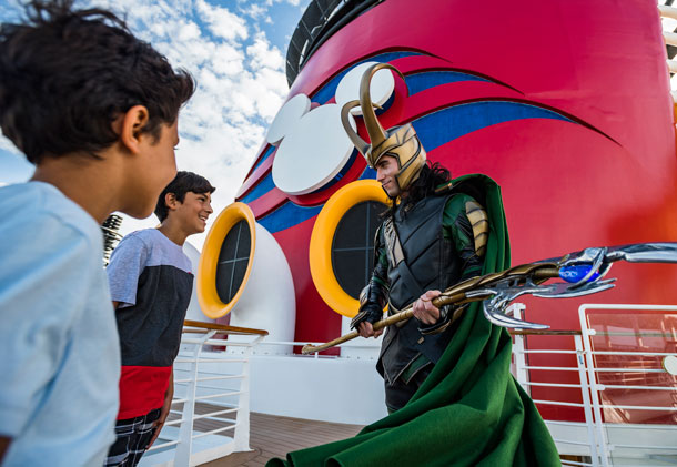Loki Makes His Debut at Marvel Day at Sea