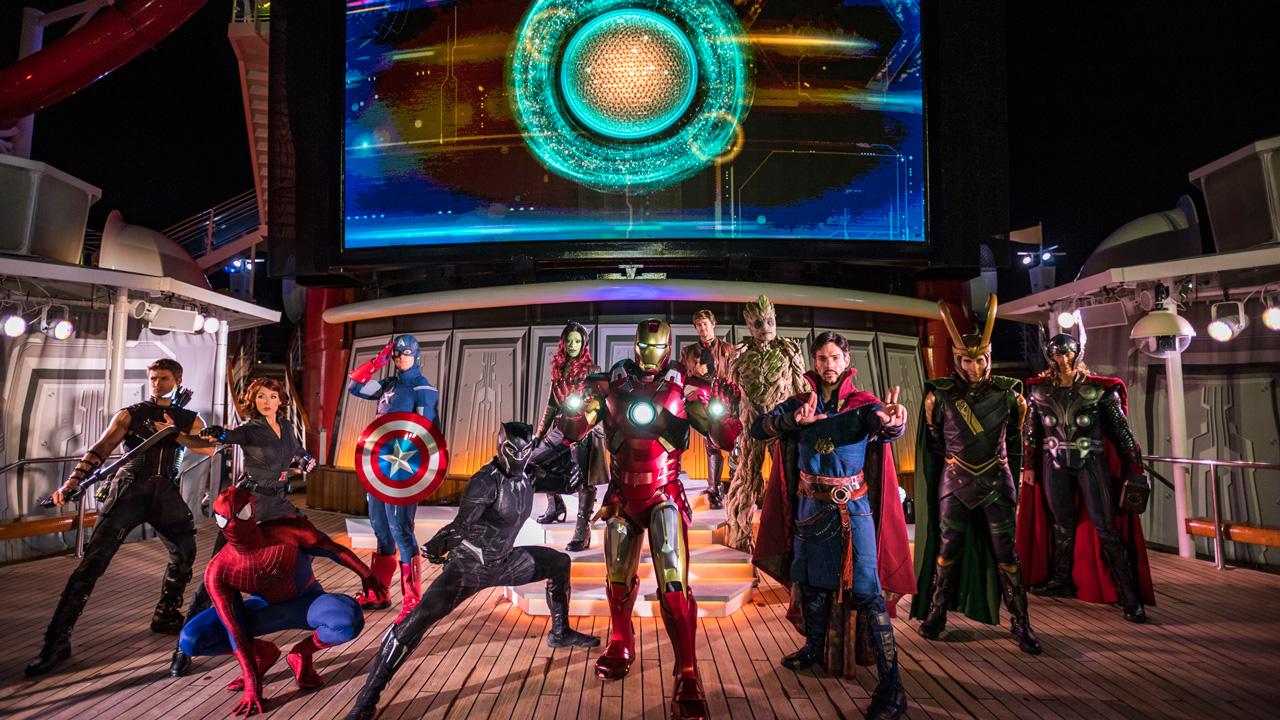 """Marvel Heroes Unite"" - - Marvel Day at Sea on the Disney Magic"