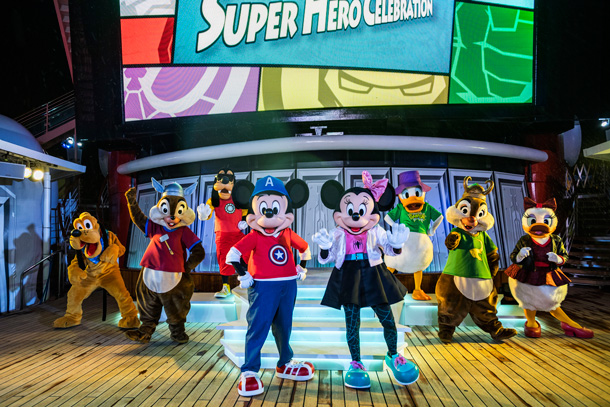 """Mickey and Friends Super Hero Celebration"" - arvel Day at Sea on the Disney Magic"