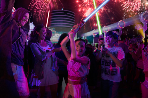 """Summon the Force"" deck party during Star Wars Day at Sea"