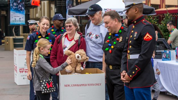 Toys for Tots at Downtown Disney District