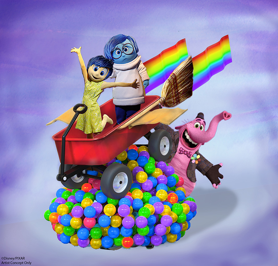 New 'Inside Out' Story Element Coming to Pixar Play Parade at Disneyland Park