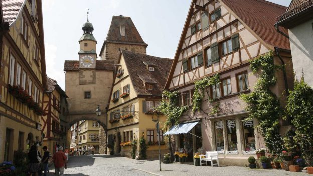 The streets and architecture of Rothenberg, Germany