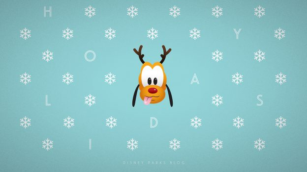 Christmas Pluto Poster