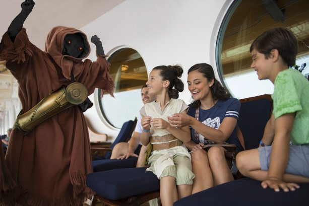 Surprise encounters with Jawas and other Star Wars characters during Star Wars Day at Sea