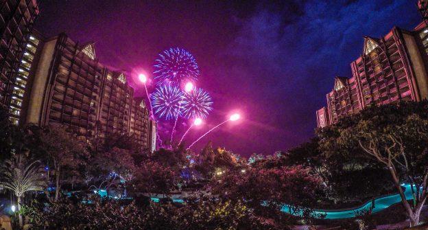 Fireworks at Aulani, a Disney Resort & Spa