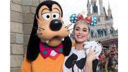 Katy Perry with Goofy at Magic Kingdom Park