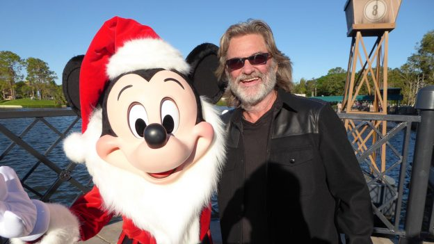 Kurt Russell and Mickey Mouse