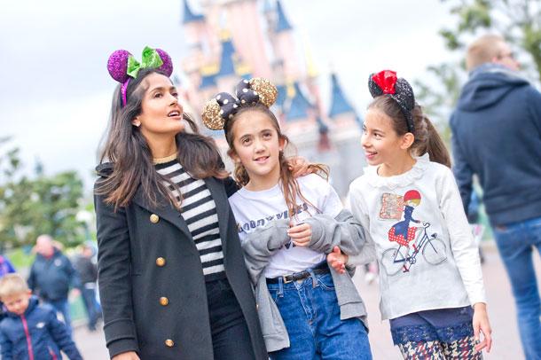 Salma Hayak Visits Disneyland Paris