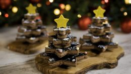 Chocolate Holiday Trees at The Ganachery at Disney Springs