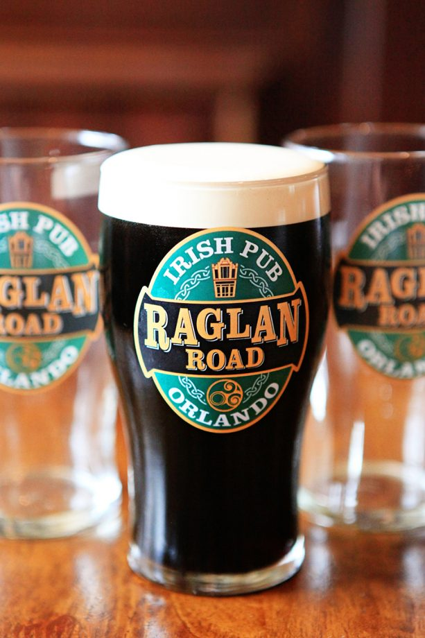 Pint Glass at Raglan Road Irish Pub and Restaurant at Disney Springs